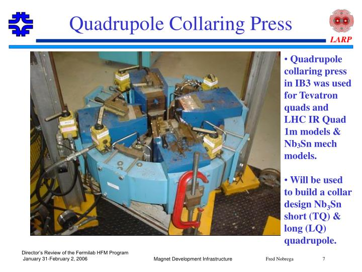 Quadrupole Collaring Press