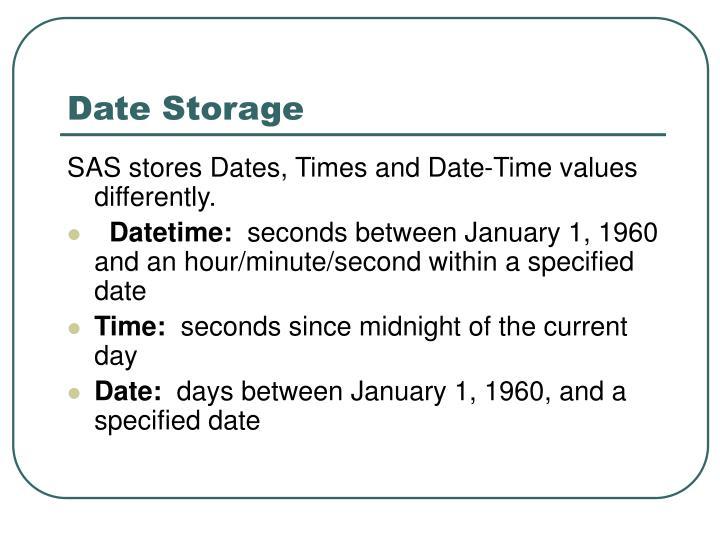 Date Storage