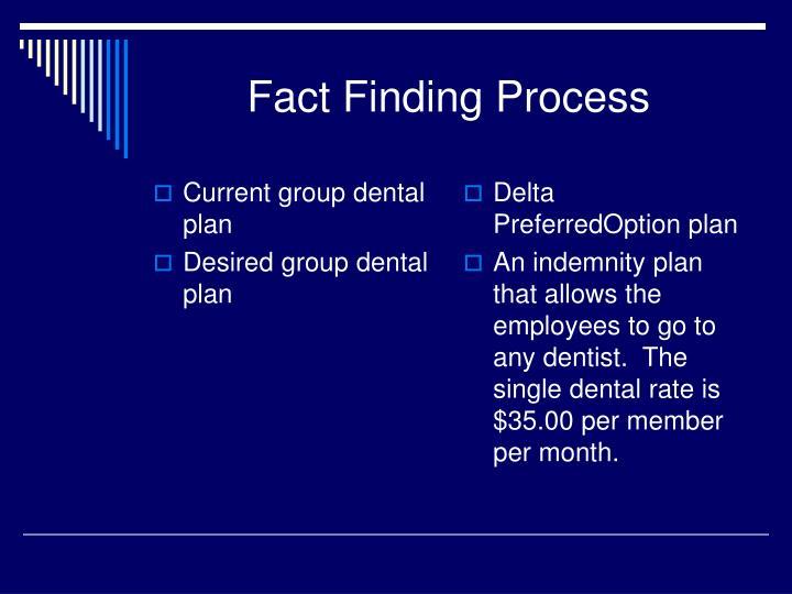 Current group dental plan