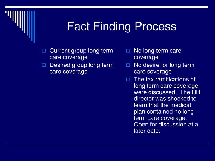 Current group long term care coverage