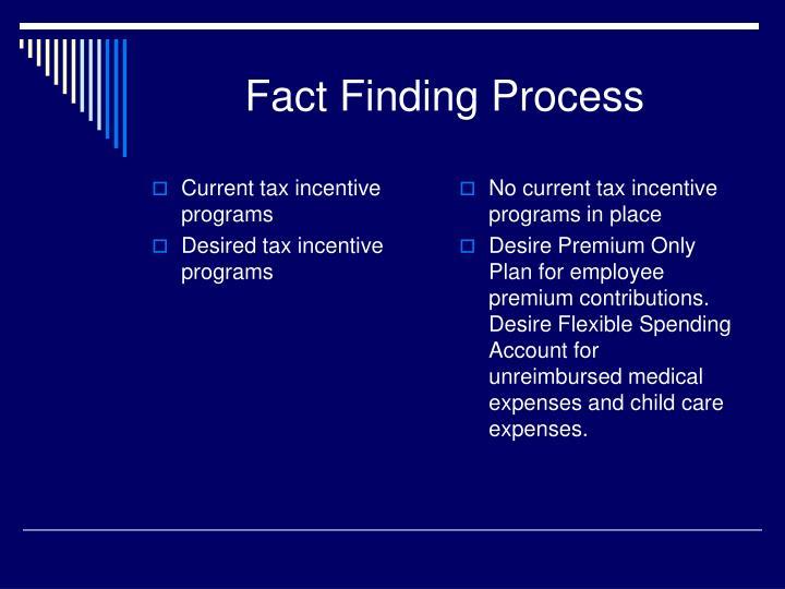 Current tax incentive programs