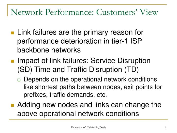 Network Performance: Customers' View