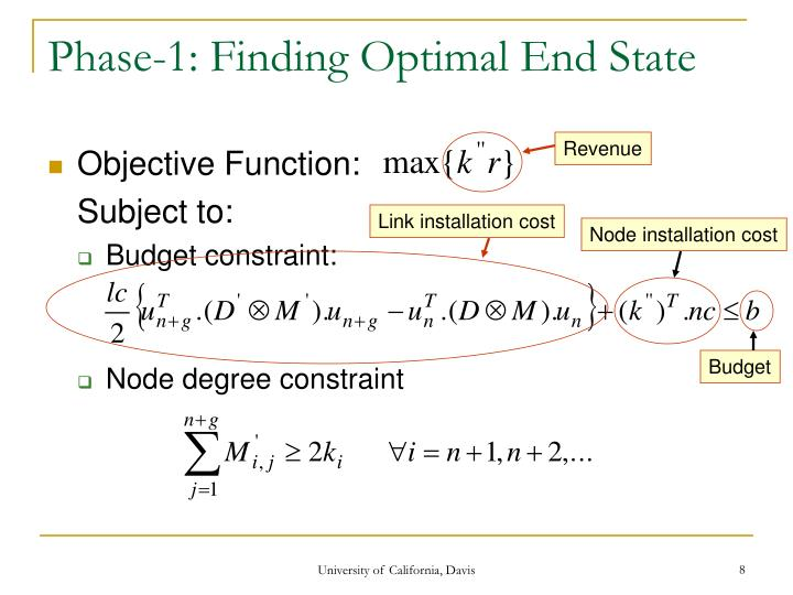 Phase-1: Finding Optimal End State