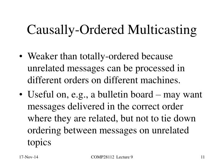 Causally-Ordered Multicasting