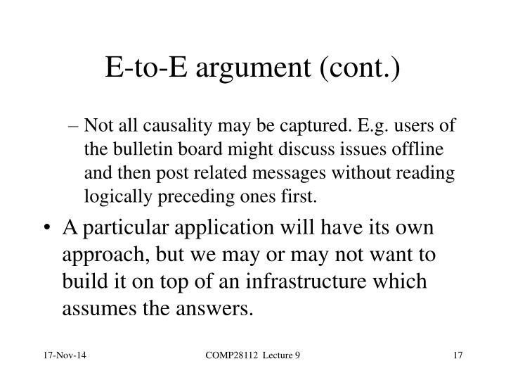 E-to-E argument (cont.)