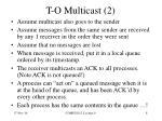 t o multicast 2