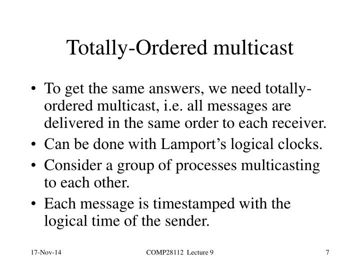 Totally-Ordered multicast