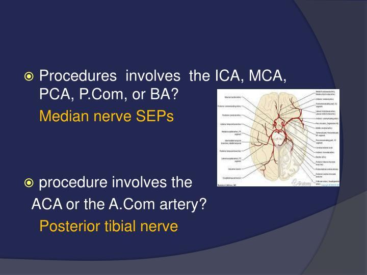 Procedures  involves  the