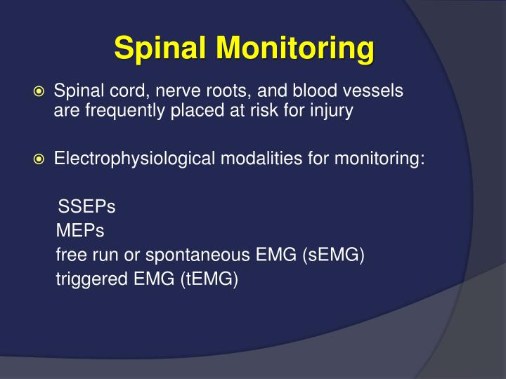 Spinal Monitoring