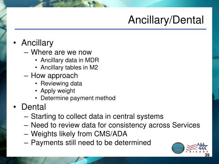 Ancillary/Dental