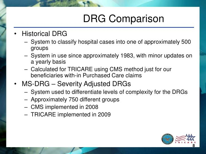 DRG Comparison