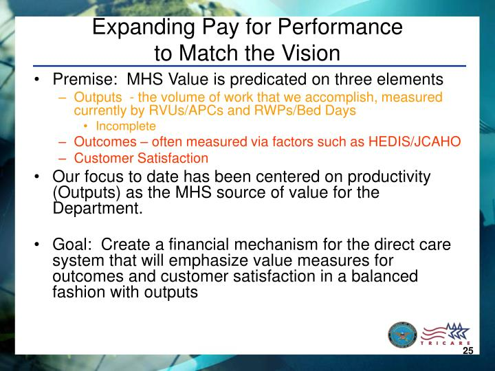 Expanding Pay for Performance