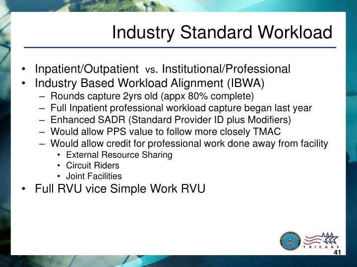 Industry Standard Workload