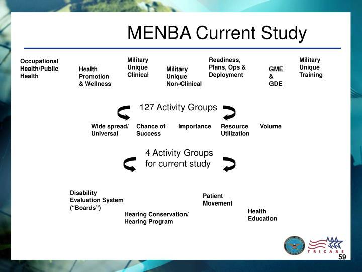 MENBA Current Study