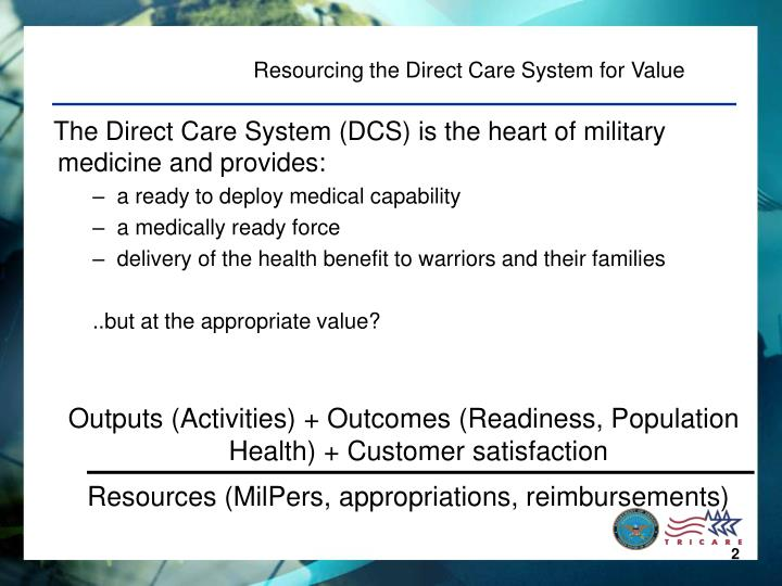 Resourcing the Direct Care System for Value