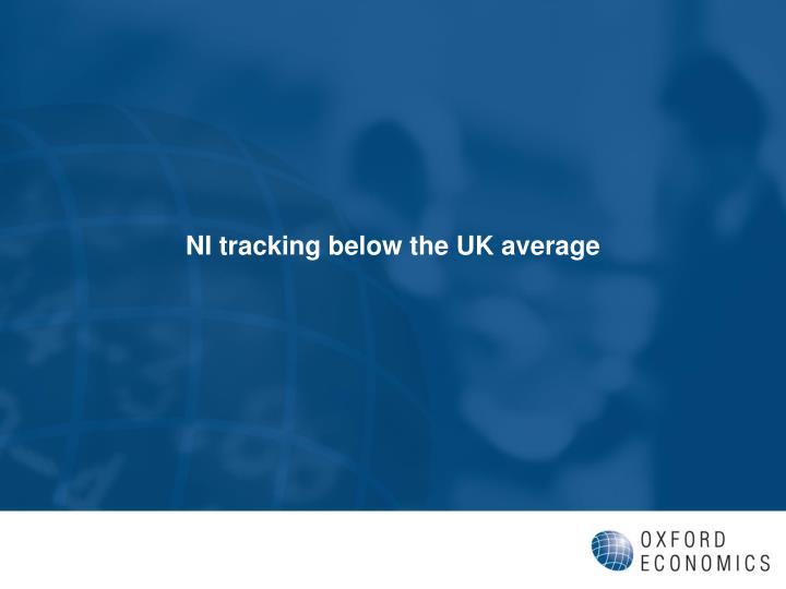 NI tracking below the UK average