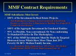 mmf contract requirements