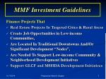 mmf investment guidelines