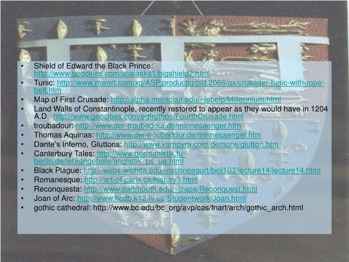 Shield of Edward the Black Prince: