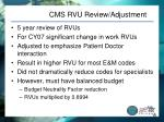 cms rvu review adjustment