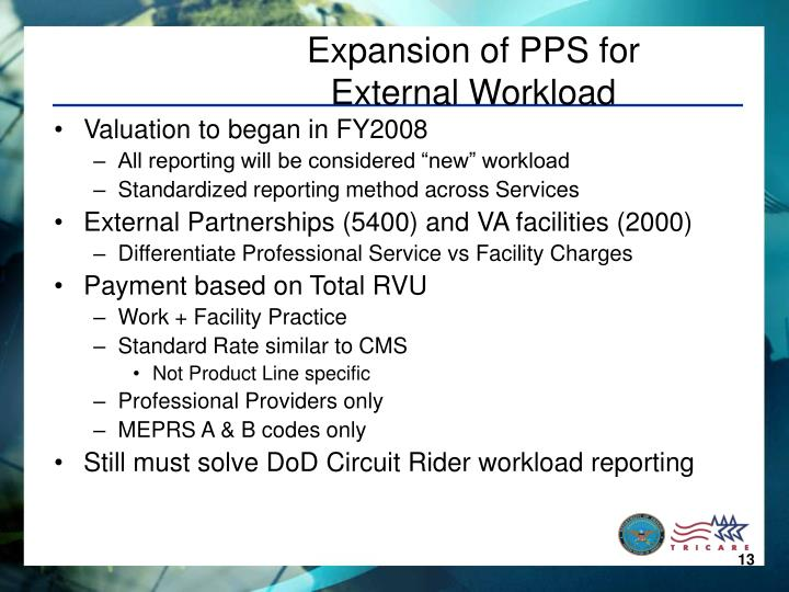 Expansion of PPS for