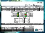 fy08 mid year summary