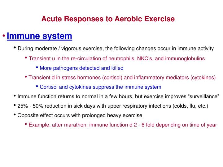 Acute Responses to Aerobic Exercise