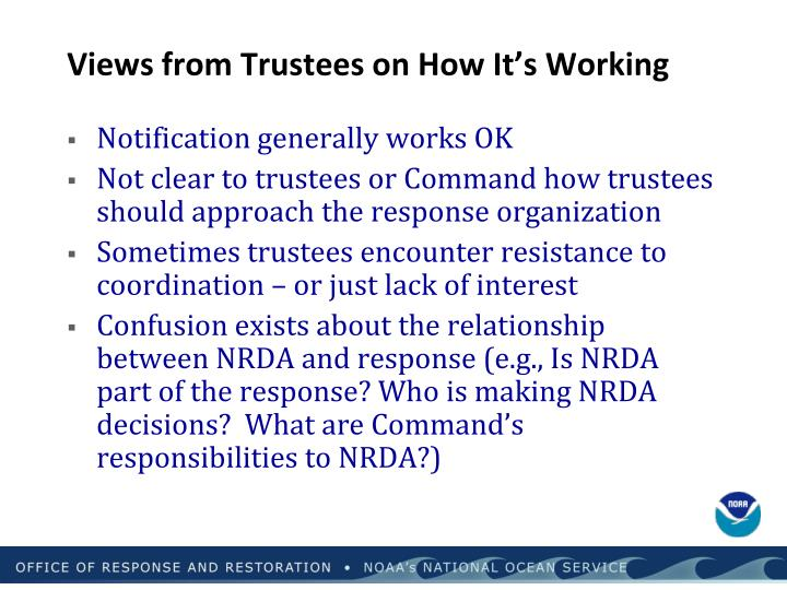 Views from Trustees on How It's Working