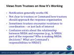 views from trustees on how it s working