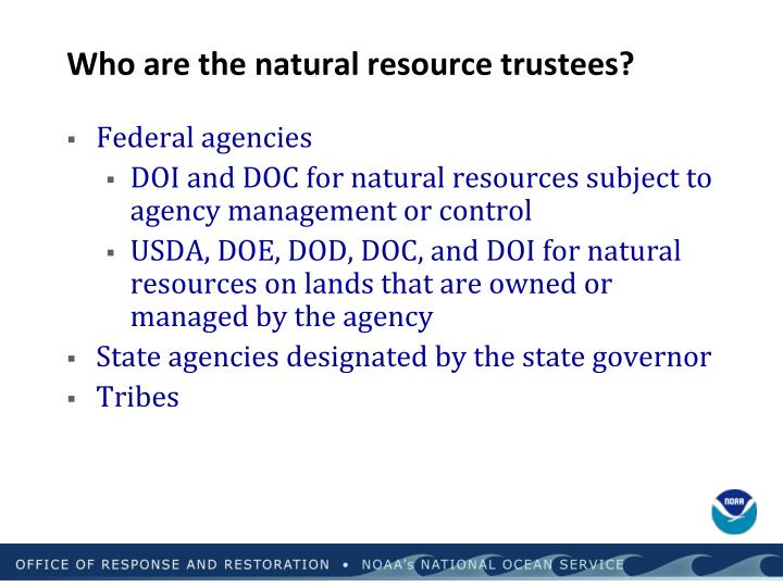 Who are the natural resource trustees?