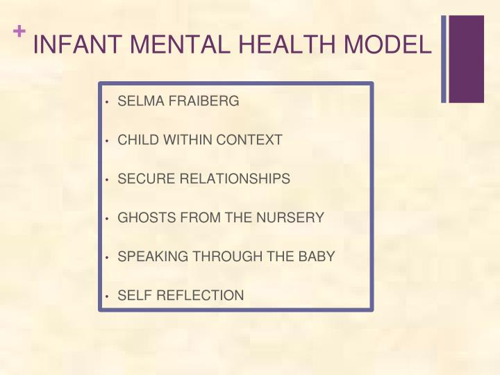 INFANT MENTAL HEALTH MODEL
