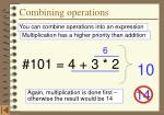 combining operations