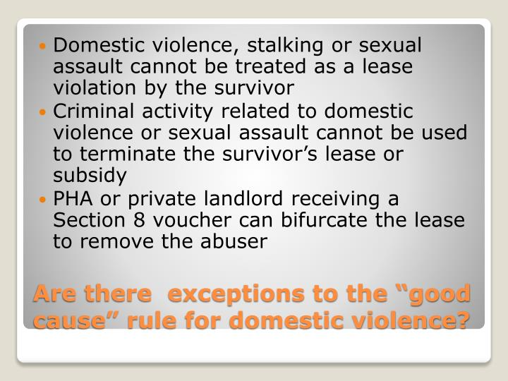 Domestic violence, stalking or sexual assault cannot be treated as a lease violation by the survivor