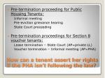 how can a tenant assert her rights if the pha isn t following the law