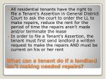 what can a tenant do if a landlord isn t making needed repairs