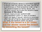 what if the tenant is a dv victim and her abuser causes the breach by assaulting the tenant