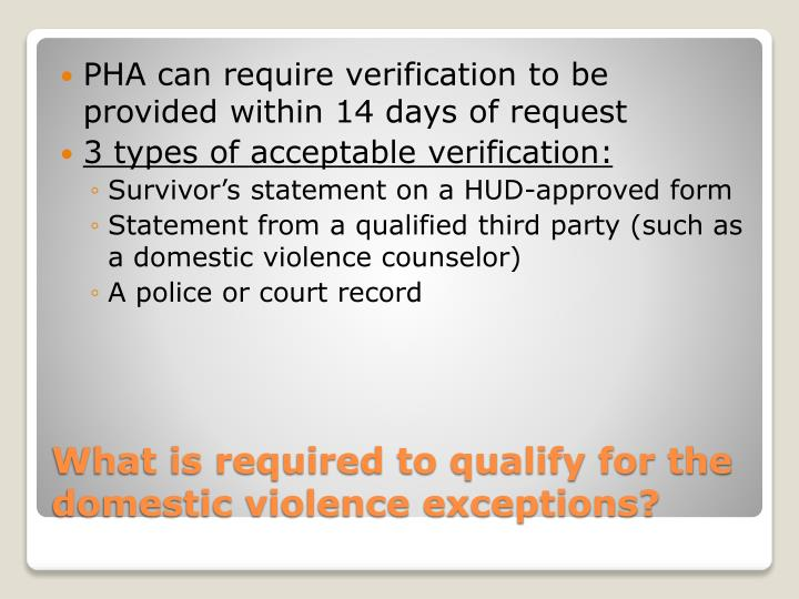 PHA can require verification to be provided within 14 days of request