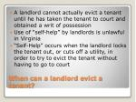 when can a landlord evict a tenant