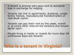 who is a tenant in virginia