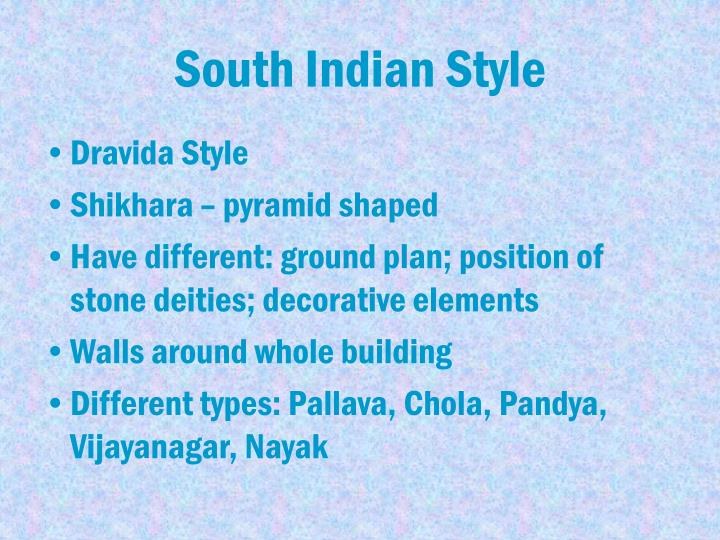 South Indian Style