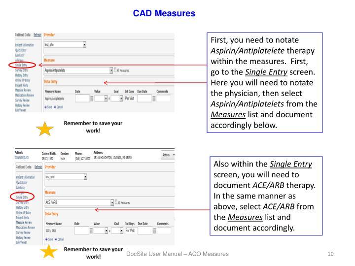 CAD Measures