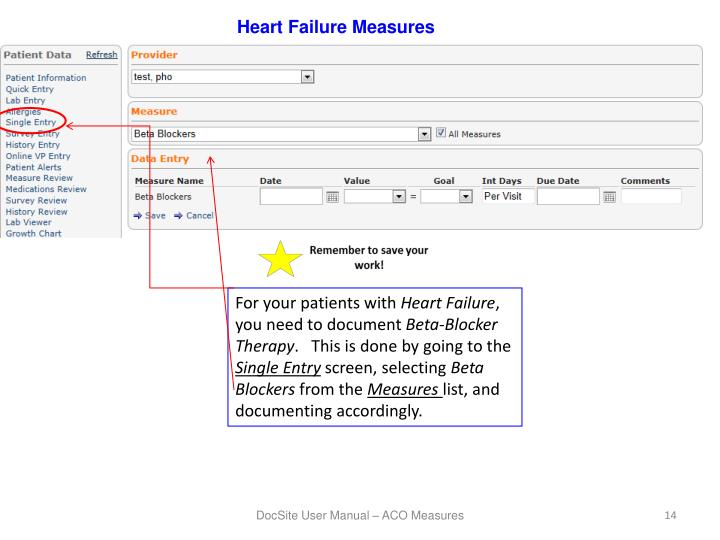 Heart Failure Measures