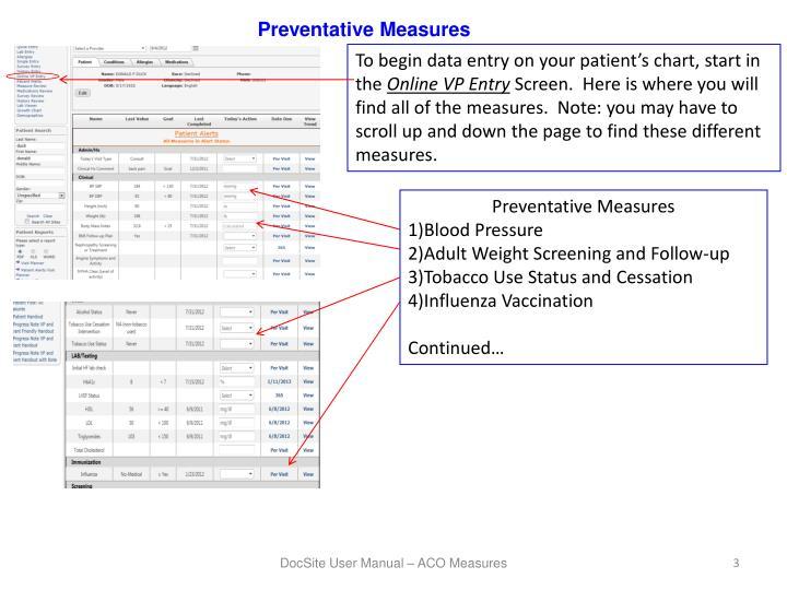 Preventative Measures