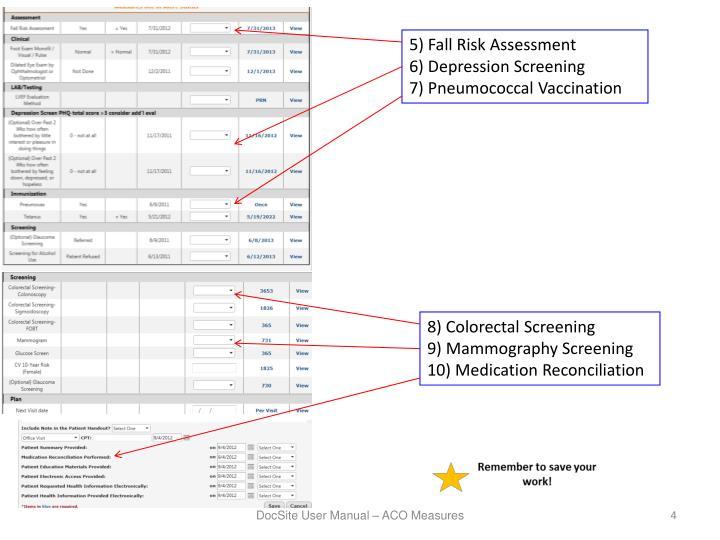 5) Fall Risk Assessment