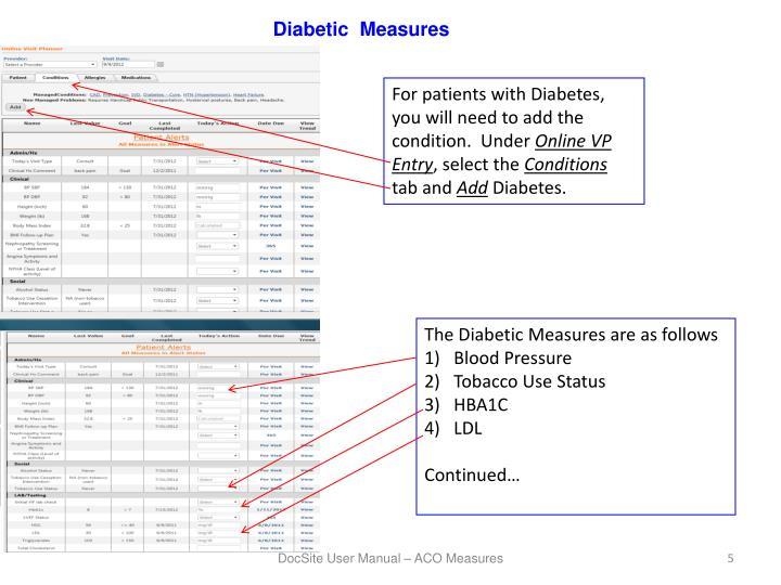 Diabetic  Measures