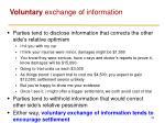 voluntary exchange of information