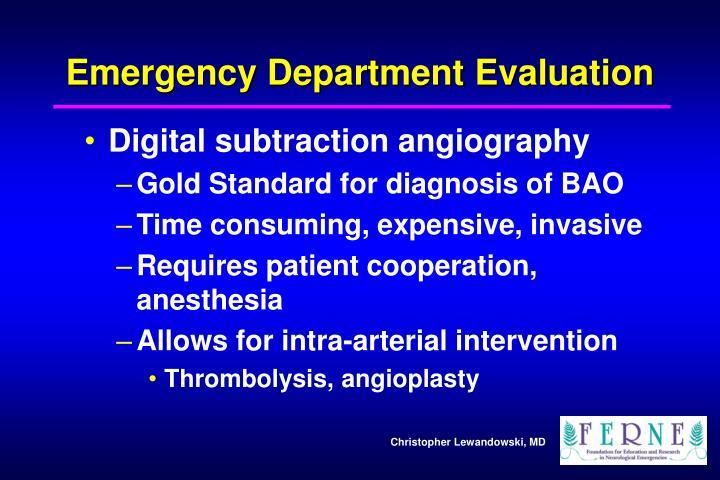 Emergency Department Evaluation