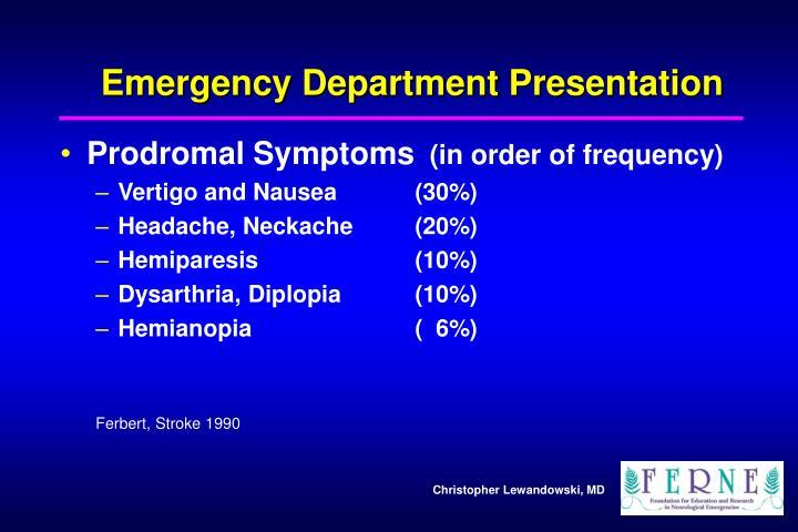 Emergency Department Presentation