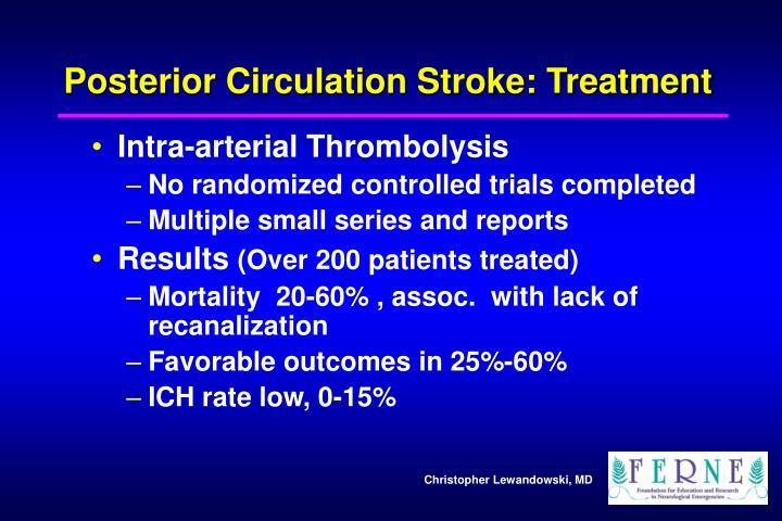 Posterior Circulation Stroke: Treatment