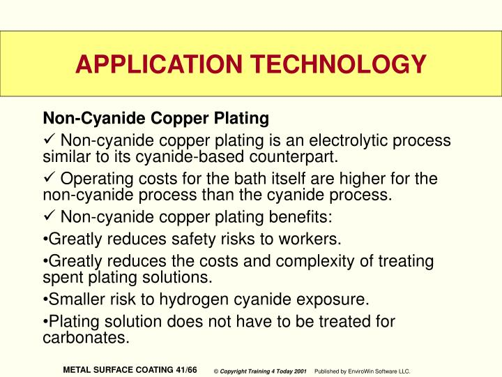 Non-Cyanide Copper Plating